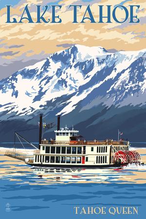Lake Tahoe - Tahoe Queen Paddleboat Posters by  Lantern Press