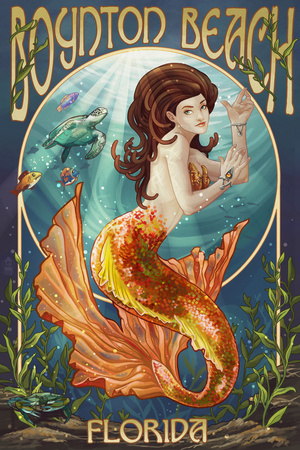 Boynton Beach, Florida - Mermaid Posters by  Lantern Press