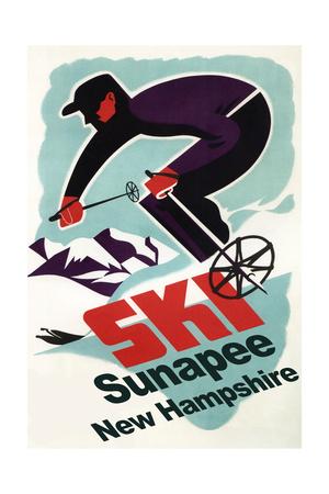 Sunapee, New Hampshire - Retro Skier Posters by  Lantern Press