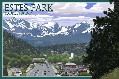 Estes Park, Colorado - Town Scene Prints by  Lantern Press