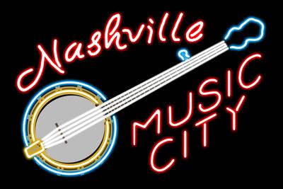 Nashville, Tennesse - Neon Banjo Sign Posters by  Lantern Press
