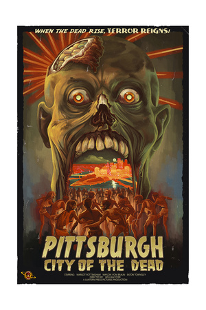 Pittsburgh, Pennsylvania - Zombie Day of the Dead Prints by  Lantern Press