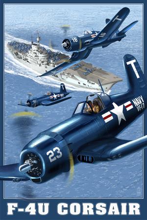 F-4U Corsair Prints by  Lantern Press