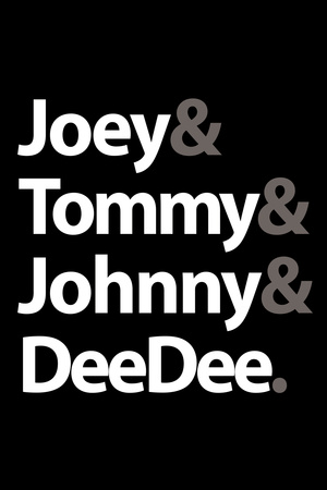 Joey Tommy Johnny and DeeDee Music Poster Posters