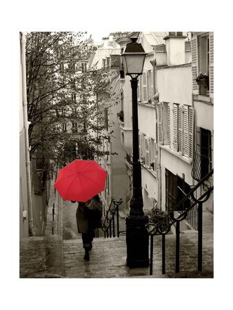 Paris Stroll II Art by Sue Schlabach