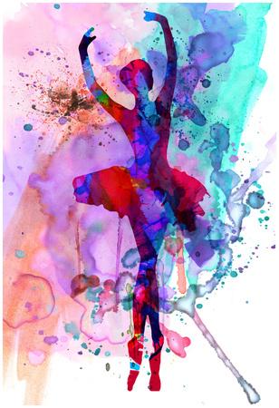 Ballerina's Dance Watercolor 3 Poster