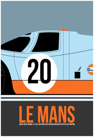 Le Mans Poster 2 Prints by Anna Malkin