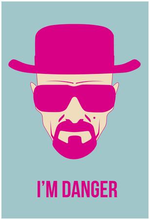 I'm Danger Poster 2 Print by Anna Malkin