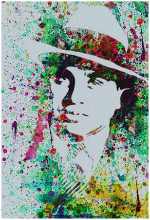Al Capone Watercolor Posters by Anna Malkin