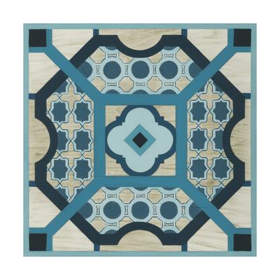 Embellished Indigo Lattice III Prints by Erica J. Vess