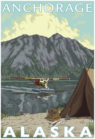 Bush Plane & Fishing, Anchorage, Alaska Posters