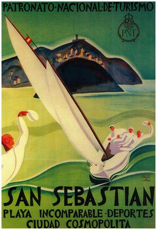 San Sebastian Vintage Poster - Europe Photo