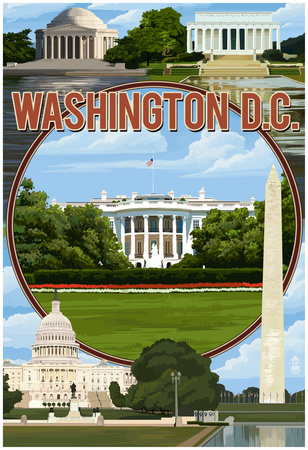 Washington Dc – Montage Print