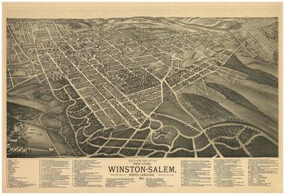 Winston-Salem, North Carolina - Panoramic Map Posters