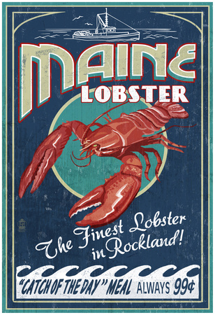 Lobster - Rockland, Maine Posters
