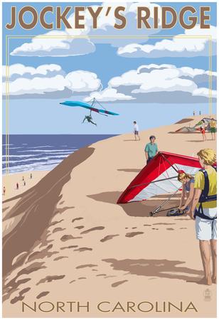 Jockey's Ridge Hang Gliders - Outer Banks, North Carolina Posters