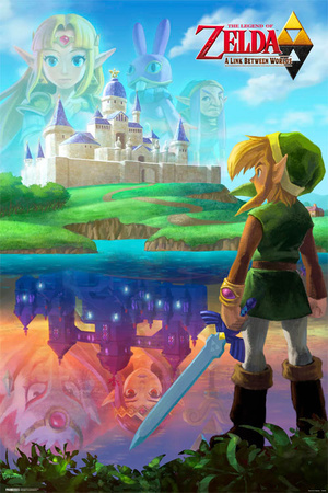 Legend of Zelda Two Worlds video game cover art