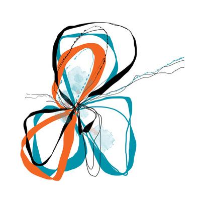 aqua Bloom Art by Jan Weiss