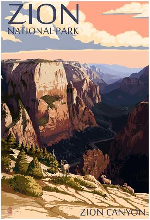 Zion National Park - Zion CaNYon Sunset Prints