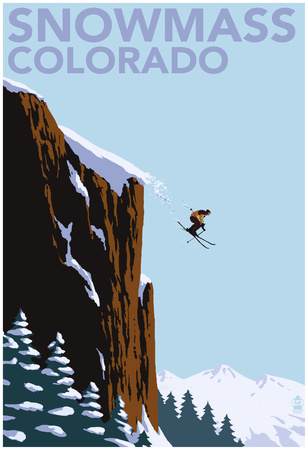 Snowmass, Colorado - Skier Jumping Posters