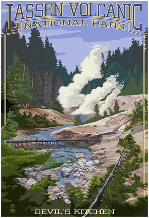 Devil's Kitchen - Lassen Volcanic National Park, Ca Poster