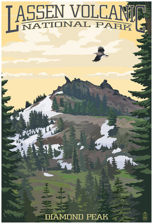 Diamond Peak – Lassen Volcanic National Park, Ca Prints