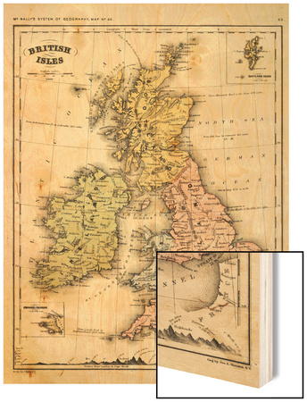 1866, Ireland, England, Scotland, United Kingdom, Wales, British Isles Wood Print