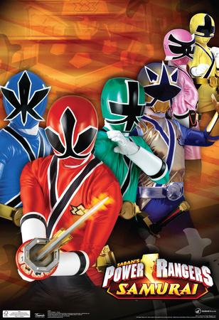 Power Rangers Samurai Group Television Poster Prints