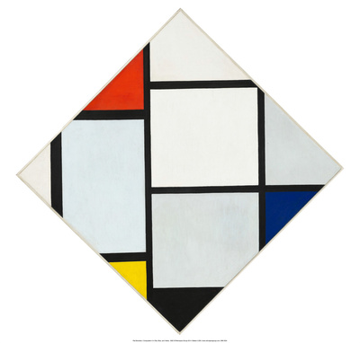Composition II in Red, Blue, and Yellow, 1930 Prints by Piet Mondrian