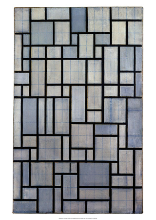 Composition with Grid 2, 1915 Prints by Piet Mondrian