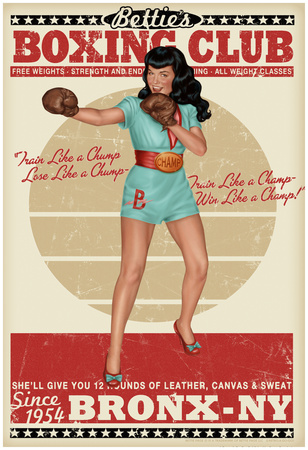 Bettie Page Boxing Club Posters