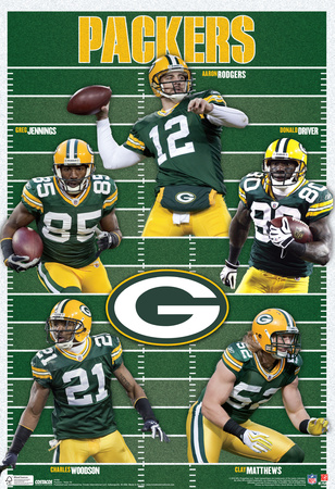 Green Bay Packers Team Sports Poster Print