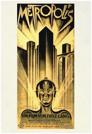 Metropolis Movie Fritz Lang Poster Print Posters