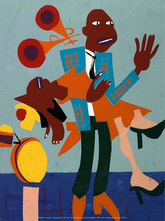 Jitterbugs (V), 1941-42 Posters by William H. Johnson