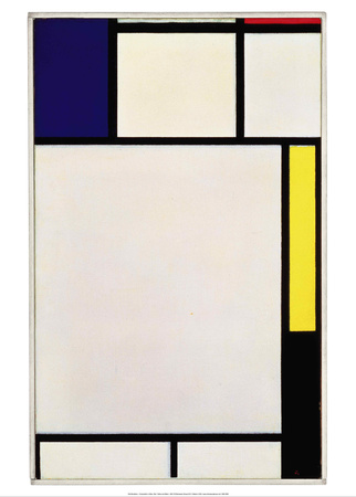 Composition in Blue, Red, Yellow and Black, 1922 Print by Piet Mondrian