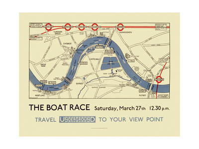 Boat Race Map Giclée-tryk af  Transport for London
