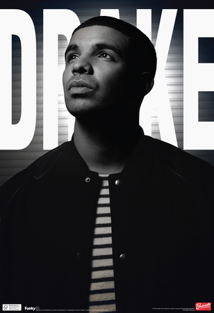 Drake Black And White Music Poster Planscher