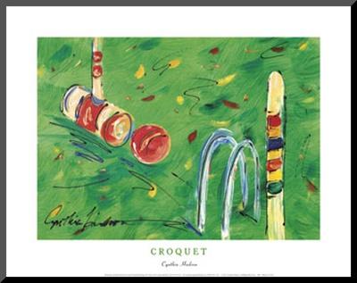 Croquet Mounted Print by Cynthia Hudson