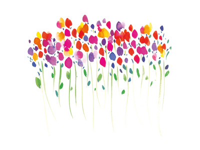 Vibrant Floral Giclee Print by Summer Thornton