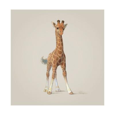 Giraffe Giclee Print by John Butler Art
