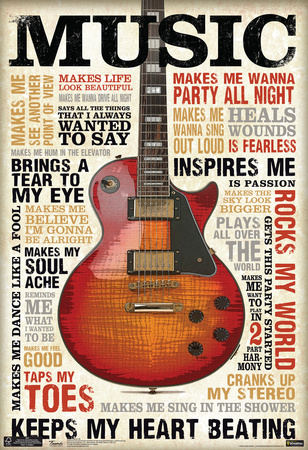 Music Inspires Me Poster Poster