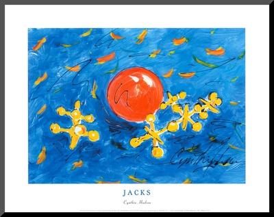 Jacks Mounted Print by Cynthia Hudson