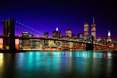 Brooklyn Bridge At Night Prints