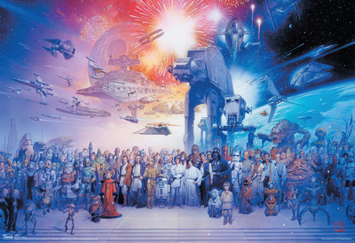 Star Wars Movie Galaxy Poster Posters