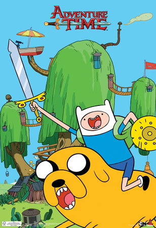 Adventure Time Finn & Jake Television Poster Poster