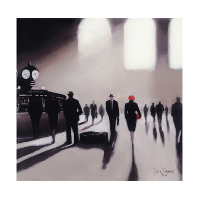 Grand Central Station Rendezvous - New York Lámina giclée por Jon Barker