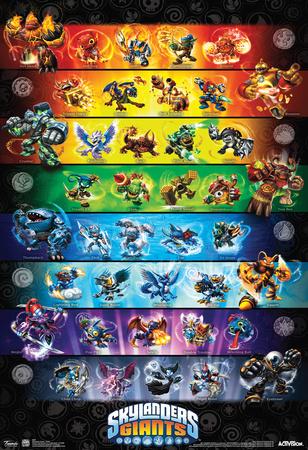 Skylanders Giants Group Video Game Poster Prints
