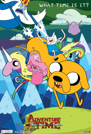 Adventure Time What Time Is It Television Poster Prints