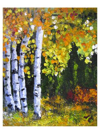 Autumn Aspen II Posters