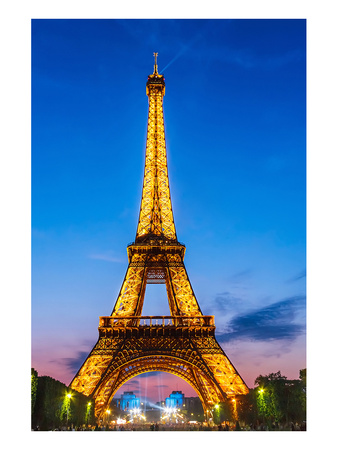 Eifell Tower at Night Poster